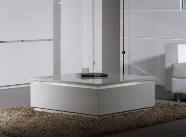 Electra Modern High Gloss Coffee Table In White