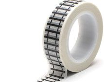 Railroad Train Tracks Washi Tape perfect  for Scrapbooking, Rubber Stamping, Gift Wrap, Trips, Journey's, Vacation, Trains