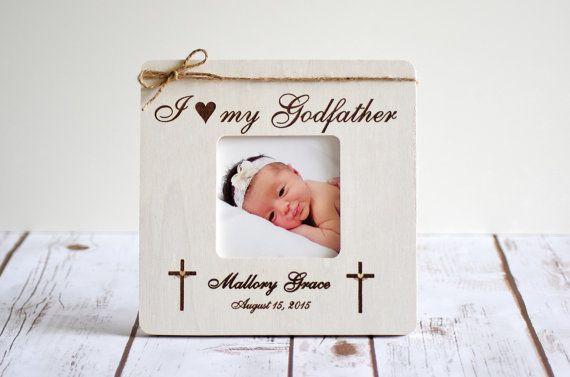 Baptism Frame -Godparents Gift- Godparents Frame- Gift for ...