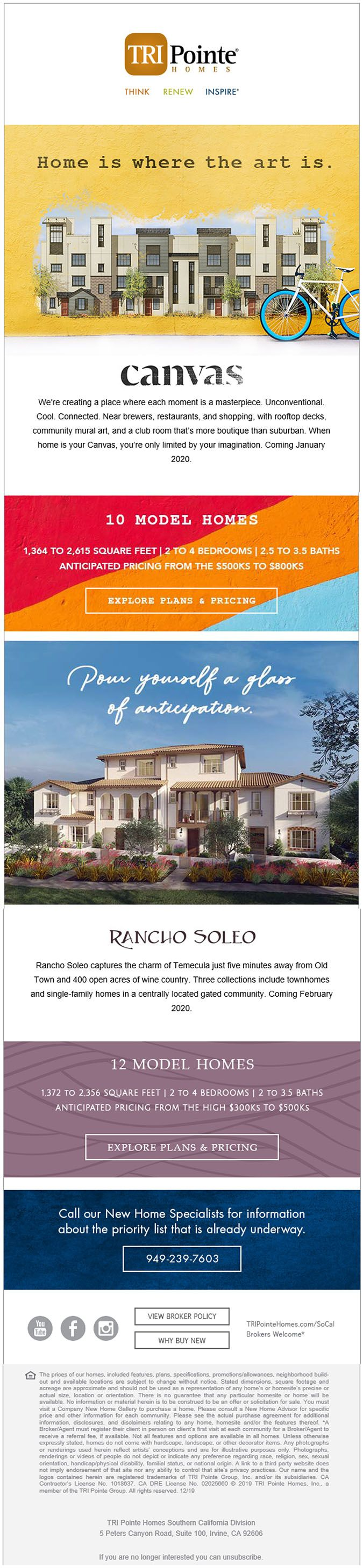 Find Your Homes In Southern California Tripointe Homes Model Homes New Community Temecula
