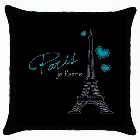paris bedroom decor | Paris Je T'aime Throw Pillow Cushion Cover Decor Patio Lounge Den ...
