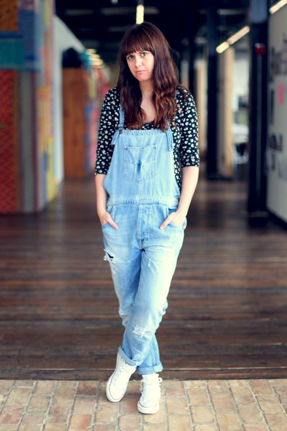 Office Style: Cool In Denim | Offices, Printed shirts and Overalls