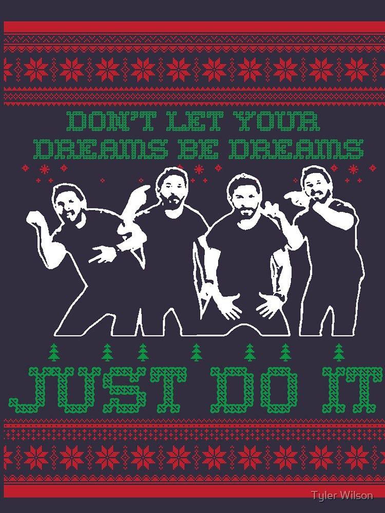 'Shia Labeouf Christmas Sweater' TShirt by Tyler Wilson
