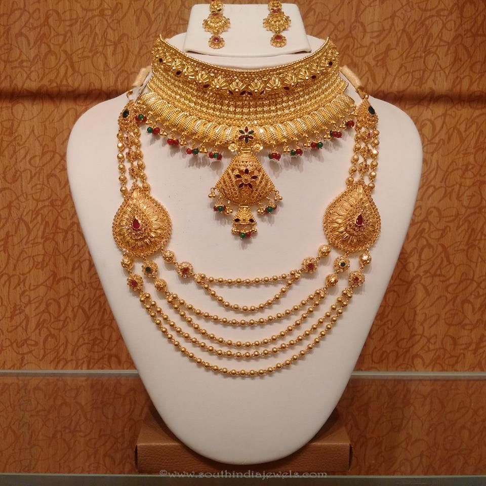 Gold Light Weight Hyderabad Bridal Jewellery South India Jewels Jewelry Set Design Gold Jewelry Fashion Bridal Gold Jewellery Designs