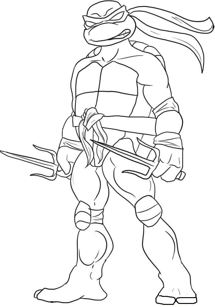 Raphael Teenage Mutant Ninja Turtles Coloring Pages For Kids Gda Printable Teenage Mutant Ninja Turtles Coloring Pages F Sketsa Ninja Turtle Cara Menggambar