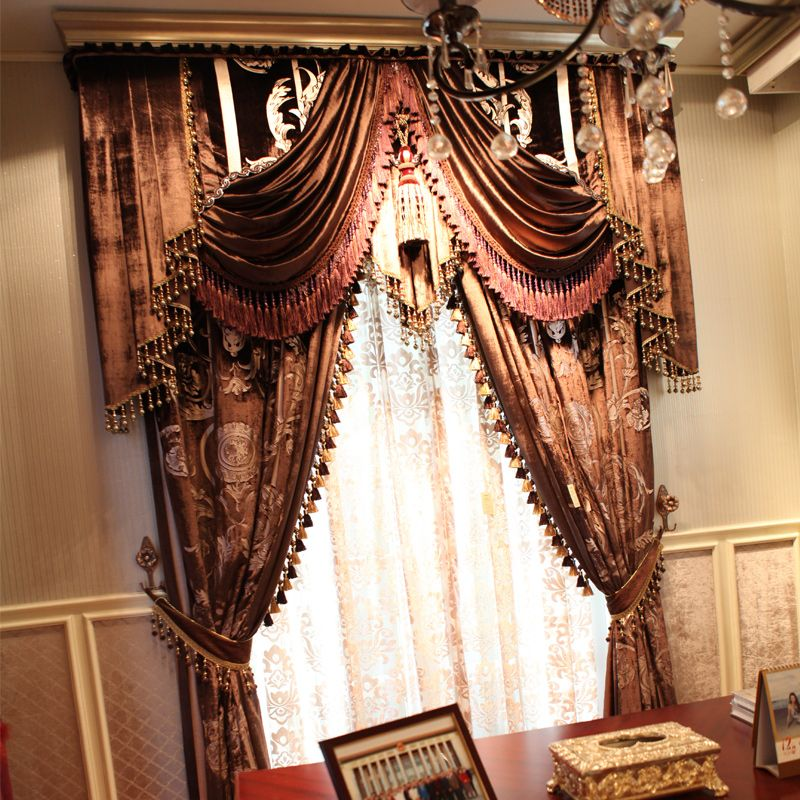 Steampunk Curtains | Circled Silk Flannelet Quality American Style Living  Room Curtain . Images