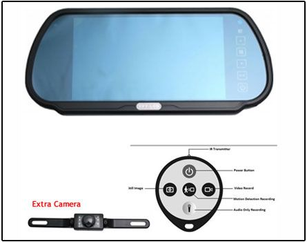 Get Best Deal On Spy Car Camera In Rear View Glass Delhi India From