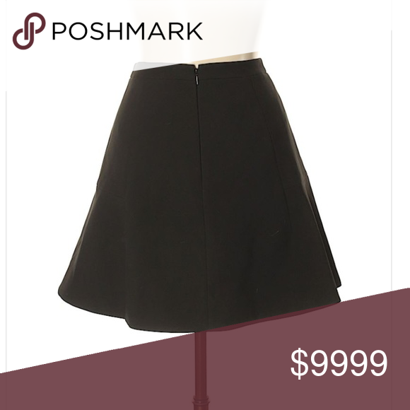 95cc733eb9 *coming soon* J.CREW - Black Skater Skirt 8 A-Line silhouette * Knee length  * Black * Solid * Size 4 * 17