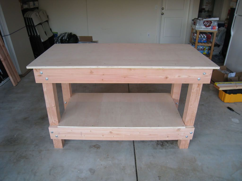 Workbench completed great step by step instructions for Working table design ideas