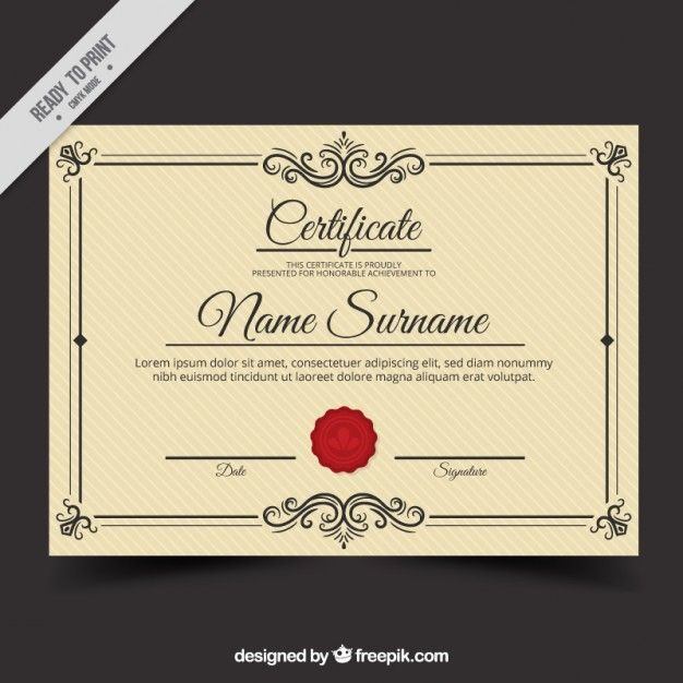 Download Vintage Diploma Template For Free