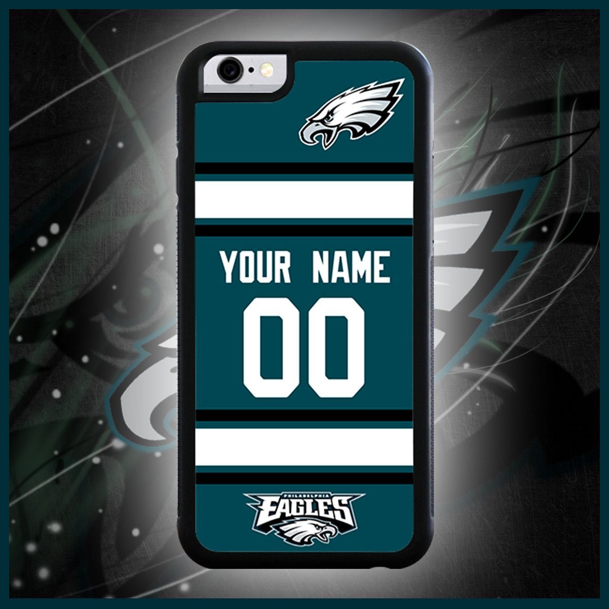 buy popular 96848 e22b2 Philadelphia Eagles Custom Jersey Phone Case | Awesome ...