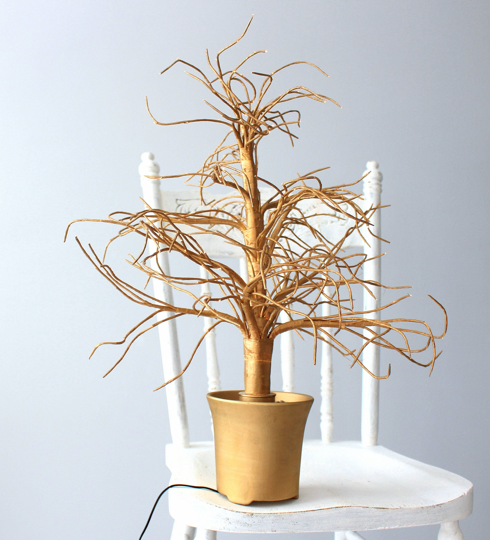 Micro LED Gold Tree, Christmas Tree, Bright Halogen Lamp