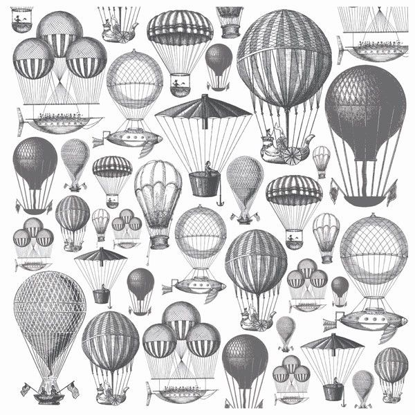 Hot Air Balloons Acetate - Periwinkle Collection from Paper Roses Scrapbooking ♥ ♥ ♥