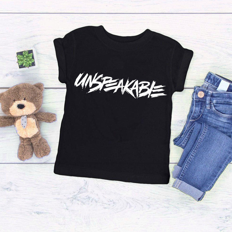 Unspeakable Logo T Shirt Youtuber Vlogger Kids Tee Vlog