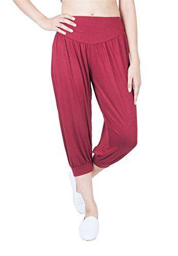612fe75a00 Lofbaz Women s Solid Hybrid Capri Long Yoga Pants Rayon Spandex Harem  Hippie Yoga Trousers