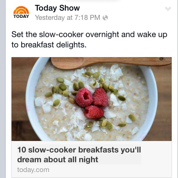 Httpmtodaycomfood10 Slow Cooker Breakfasts Youll Dream About