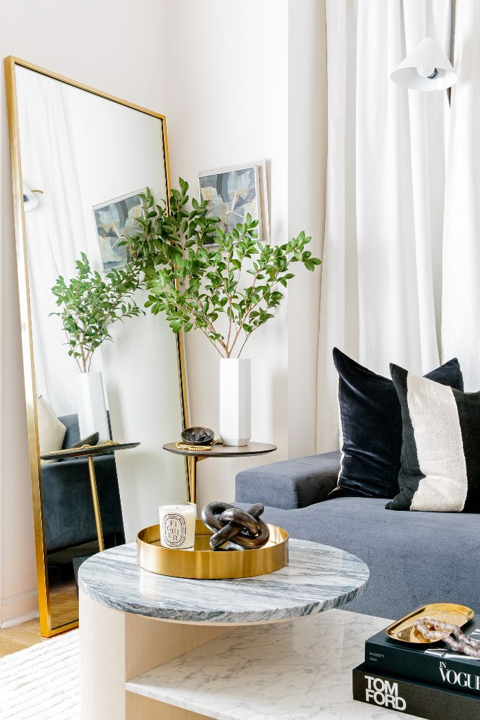 This Simple Styling Trick Made My NYC Apartment Feel 10 Times Bigger - Living Room Ideas For Apartments