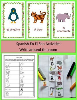 Spanish Zoo Animals En El Zoo Activities Pack Los Animales With Images Zoo Activities Zoo Animals Activity Pack