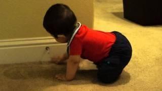 #Baby Boy Loves The Door Stopper - #funny