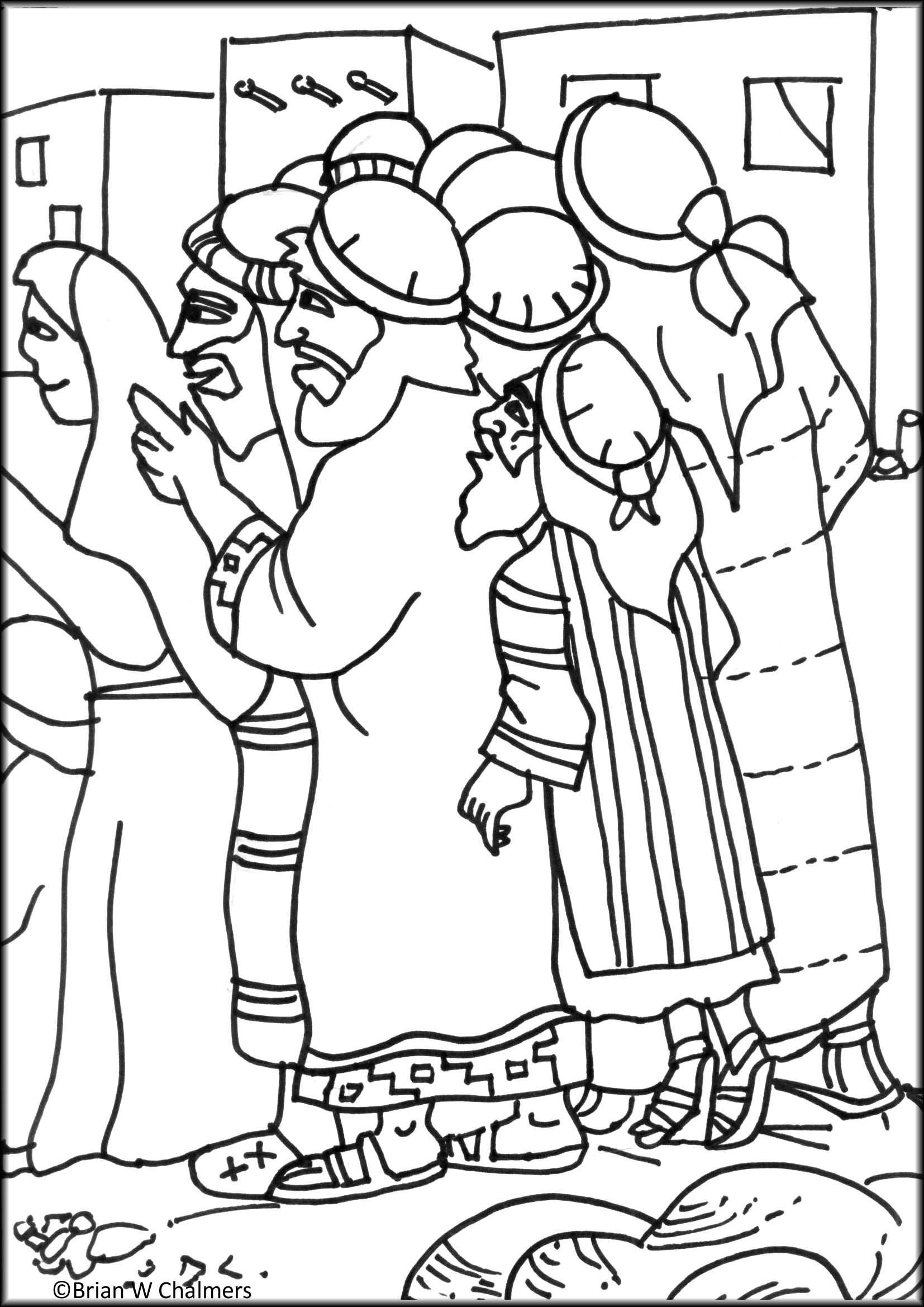 Childrens bible stories and coloring pages - Zaccheus Coloring Page Bible Story