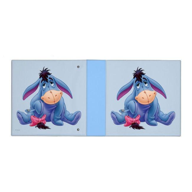 Winnie The Pooh Eeyore Smile 3 Ring Binder #Ad