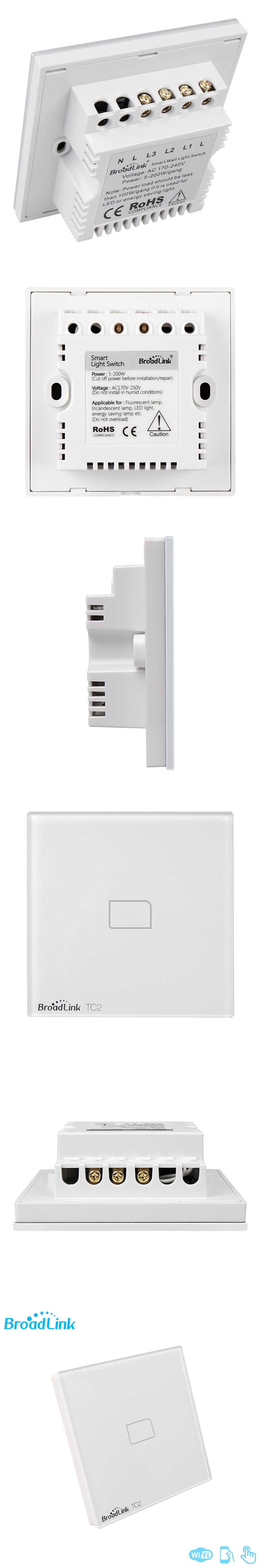 Broadlink Tc2 1gang Uk Standard Smart Home Touch Panel 433mhz Remote How Does A Light Switch Work Control Wall With Rm Pro Via Wifi Network