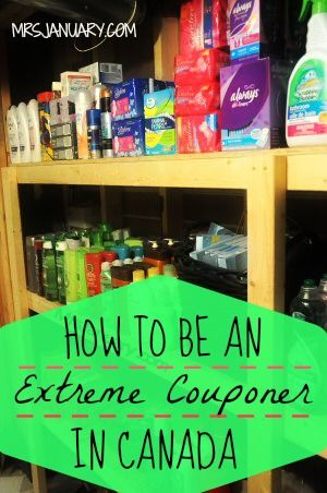 How To Be An Extreme Couponer In Canada via MrsJanuary.com - Everything you wanted to know about extreme couponing in Canada. Lots of great advice and tips for saving the most money on groceries!