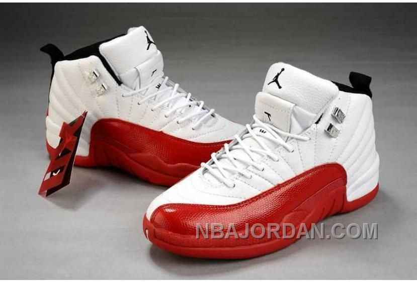 NIKE AIR JORDAN 12 WOMENS RED WHITE SHOES CHRISTMAS DEALS Only  88.00  9113b98a76