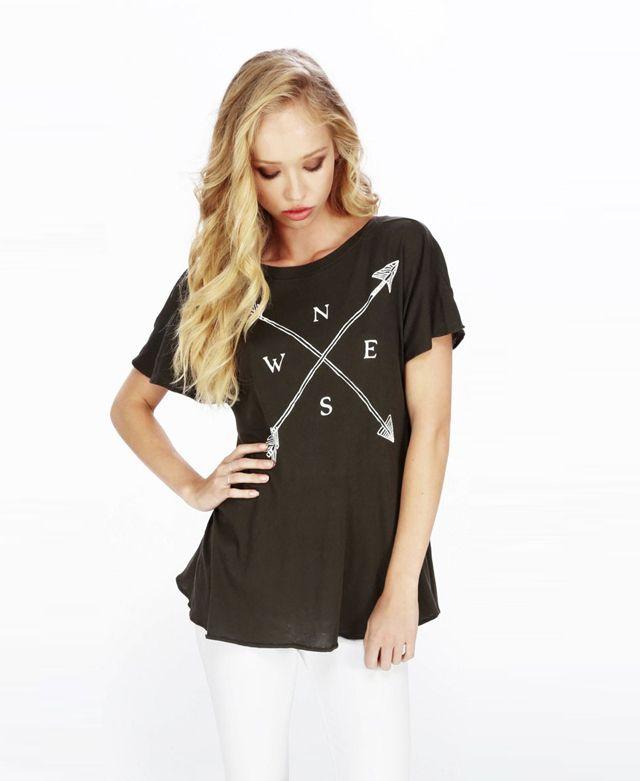 Letter Print Backless Deep-V #Tshirt