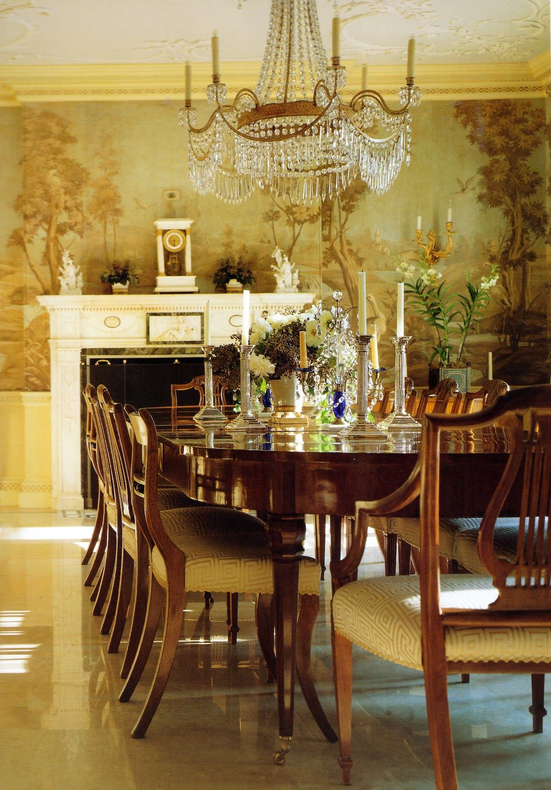 scenic wallpaper Traditional dining rooms, Scenic wallpaper