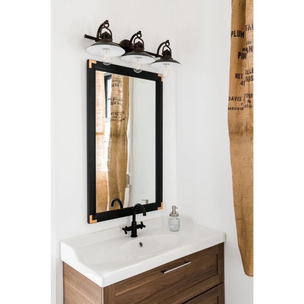 O'Neal Three Light Vanity Rustic bathroom lighting