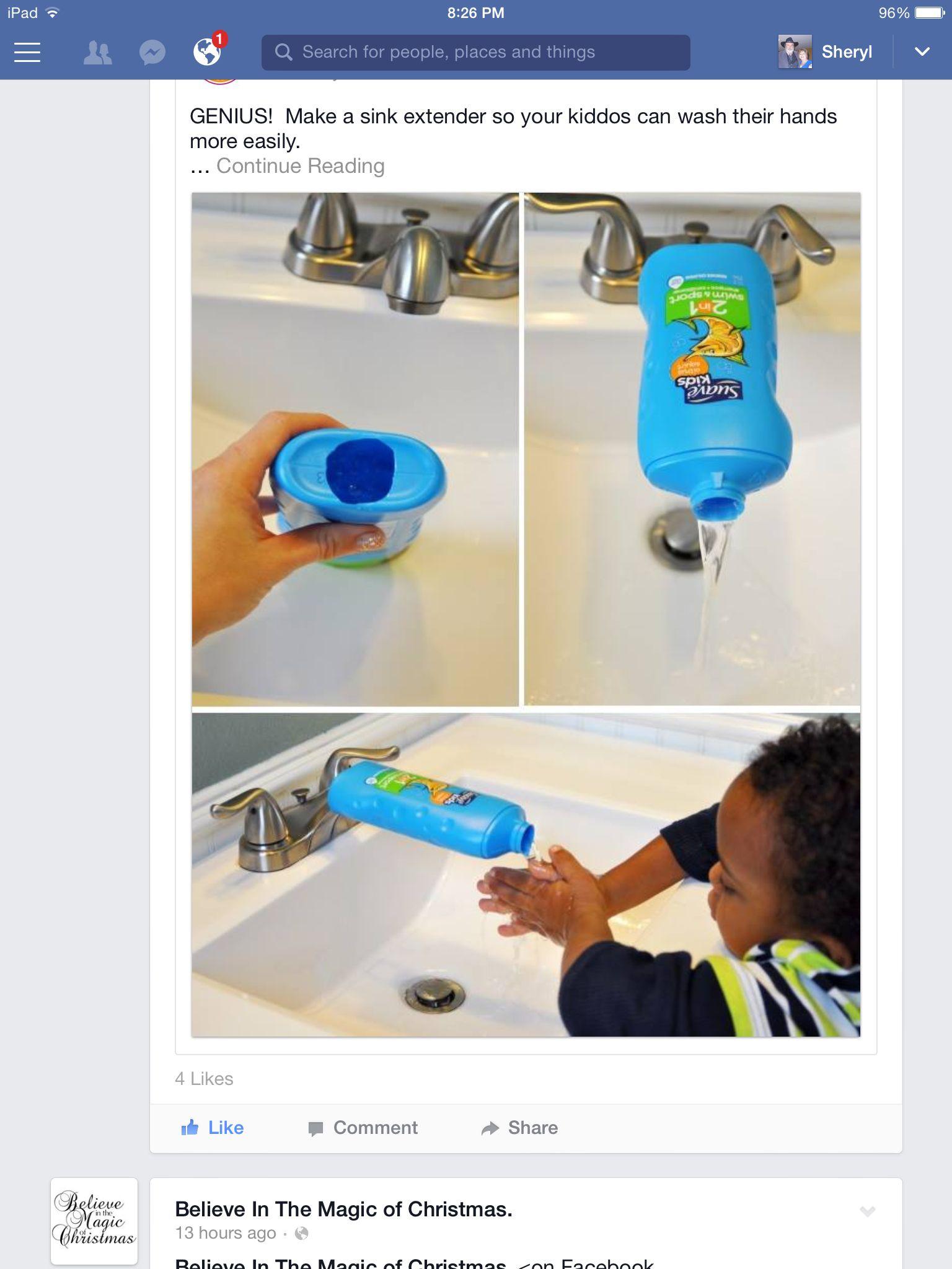 Faucet extender   Cleaning Craziness   Pinterest