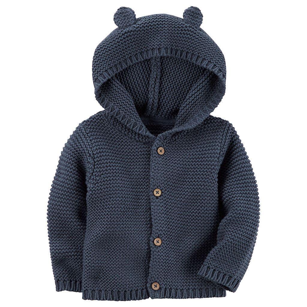 Photo of Baby Boy Carter's Hooded Textured Cardigan | Kohls