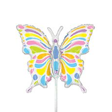 "Pastel Butterfly - 14"" Air-filled Mini Shape #betallic"