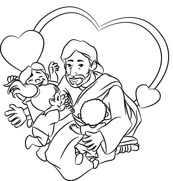 friends of jesus coloring pages - photo#10
