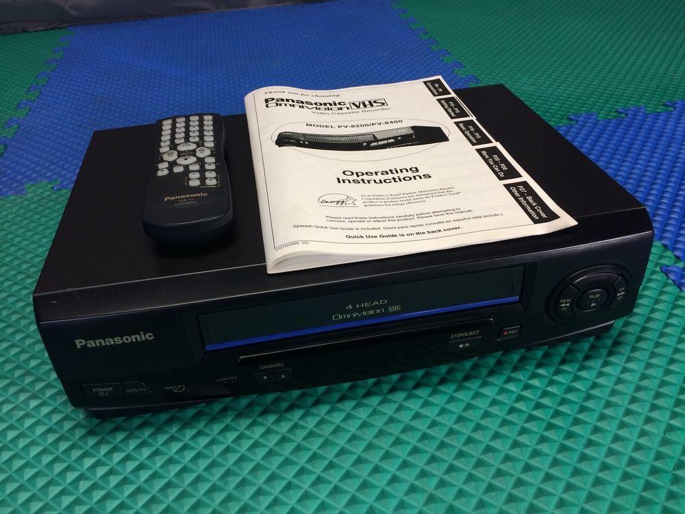 works perfect panasonic pv v4021 vhs vcr recorder player remote rh pinterest com panasonic m10 video camera manual panasonic video dvd recorder manual