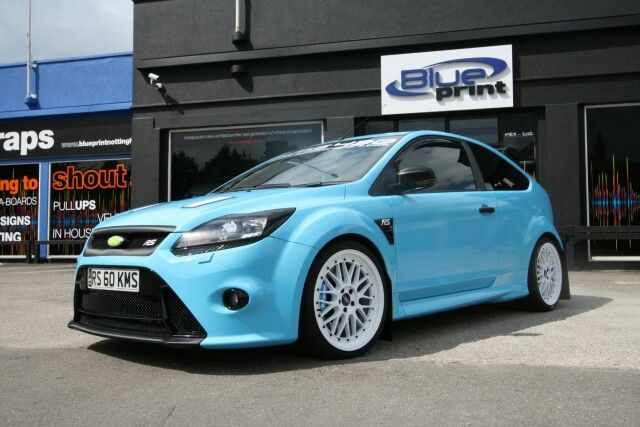 Ford Focus Rs Baby Blue Wrapped Ford Focus Ford Focus Rs Ford