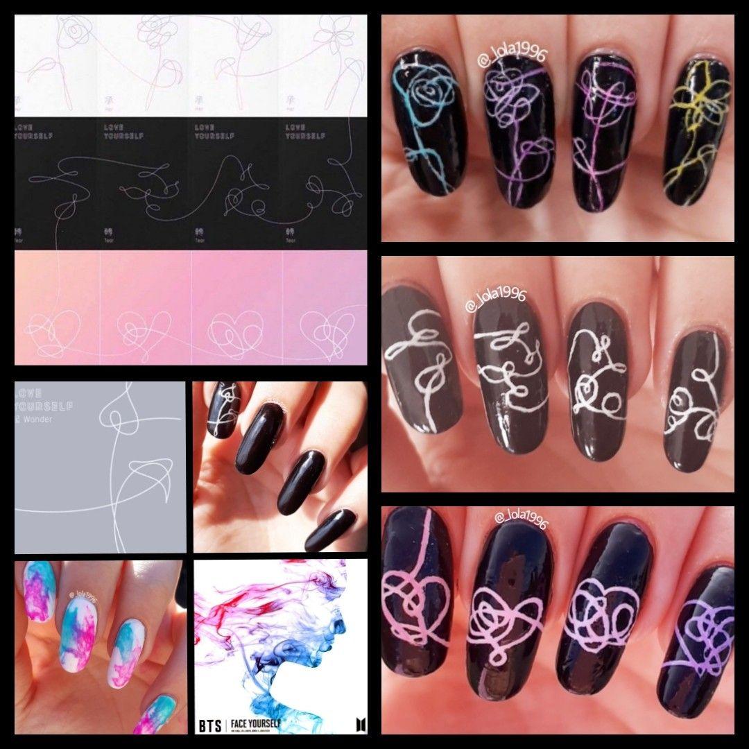 Love Nail Art: Bts Nail Art Love Yourself Albums
