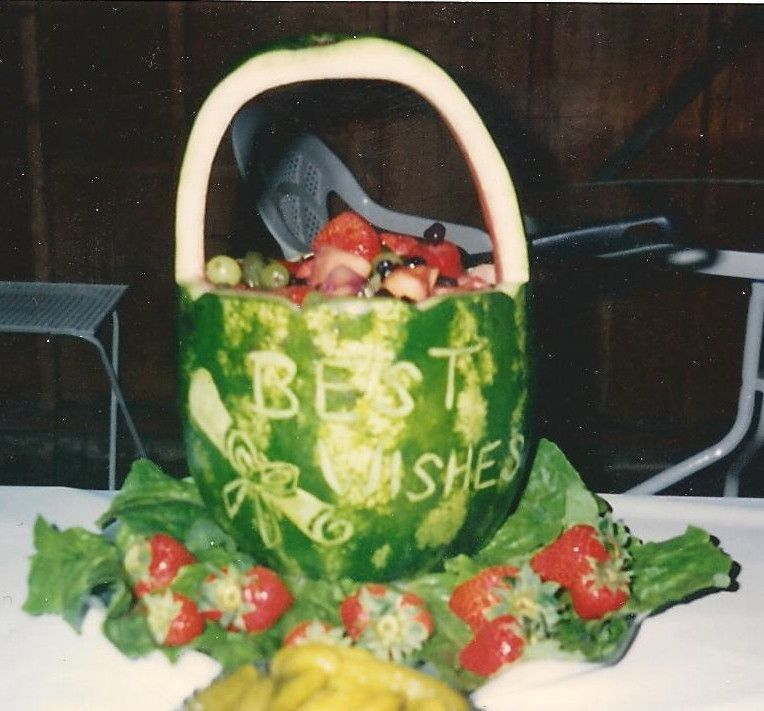 Better picture of a graduation watermelon basket. Diploma & Best ...