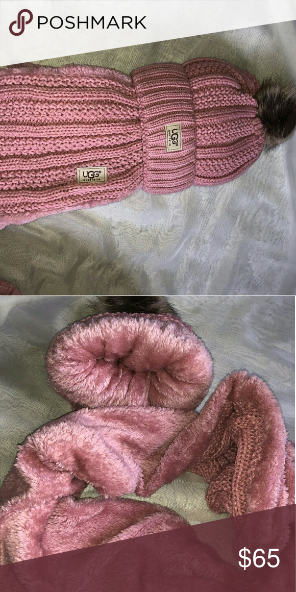 32dc7aa805ec2 UGG pink knitted hat and infinity scarf set Brand new. Very warm inside UGG  Accessories Hats