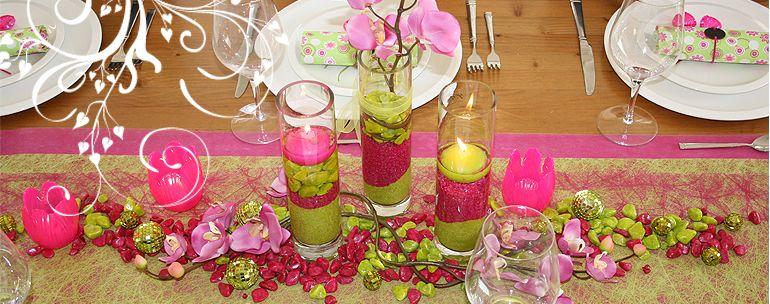 Tischdeko tischdeko pinterest tischdeko lila und pink for Tischdeko pink