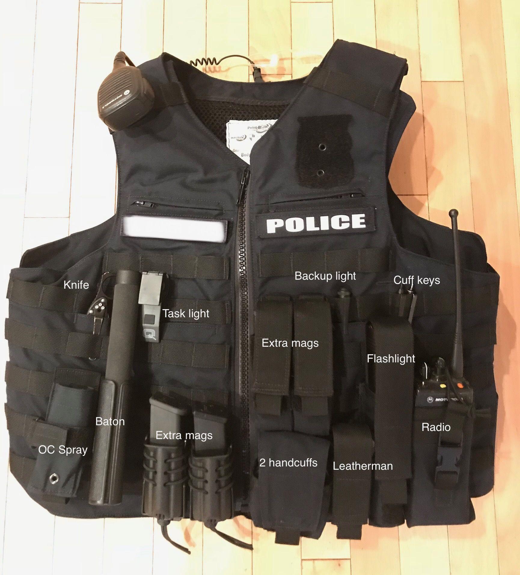 Current duty vest setup Police duty gear, Police duty