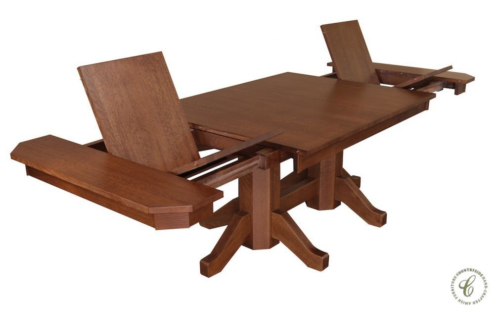 Merveilleux A Departure From Traditional Amish Furniture, Our San Antonio Double  Pedestal Dining Table Offers All The Innovation And Character The Name  Implies.