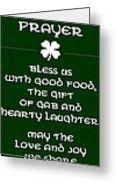 Irish Kitchen Prayer Greeting Card by Jaime Friedman
