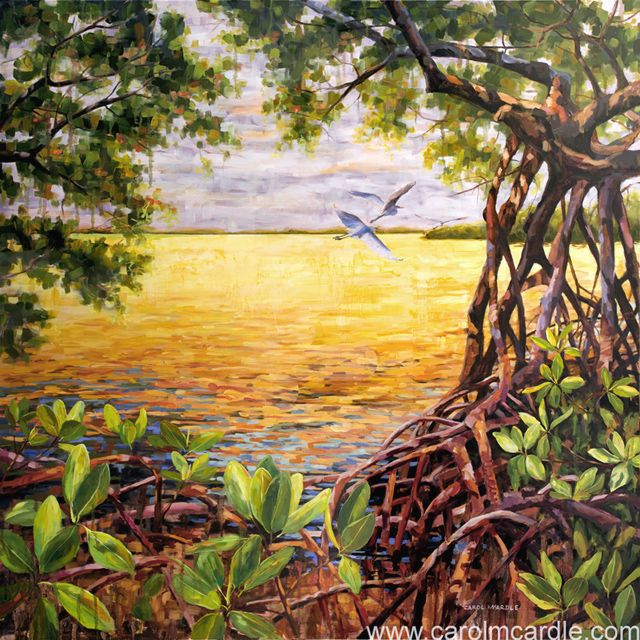 Fantasy Florida 42 X42 In 2020 Landscape Prints Painting Still