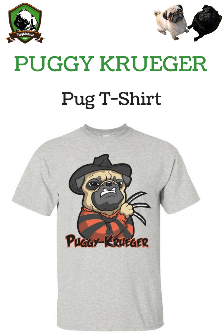Who wouldnut love this cute funny and unusual pug themed tshirt