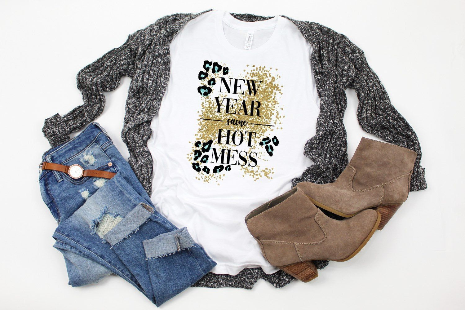 Download New Year Same Hot Mess T-Shirt for Women in 2020 (With ...