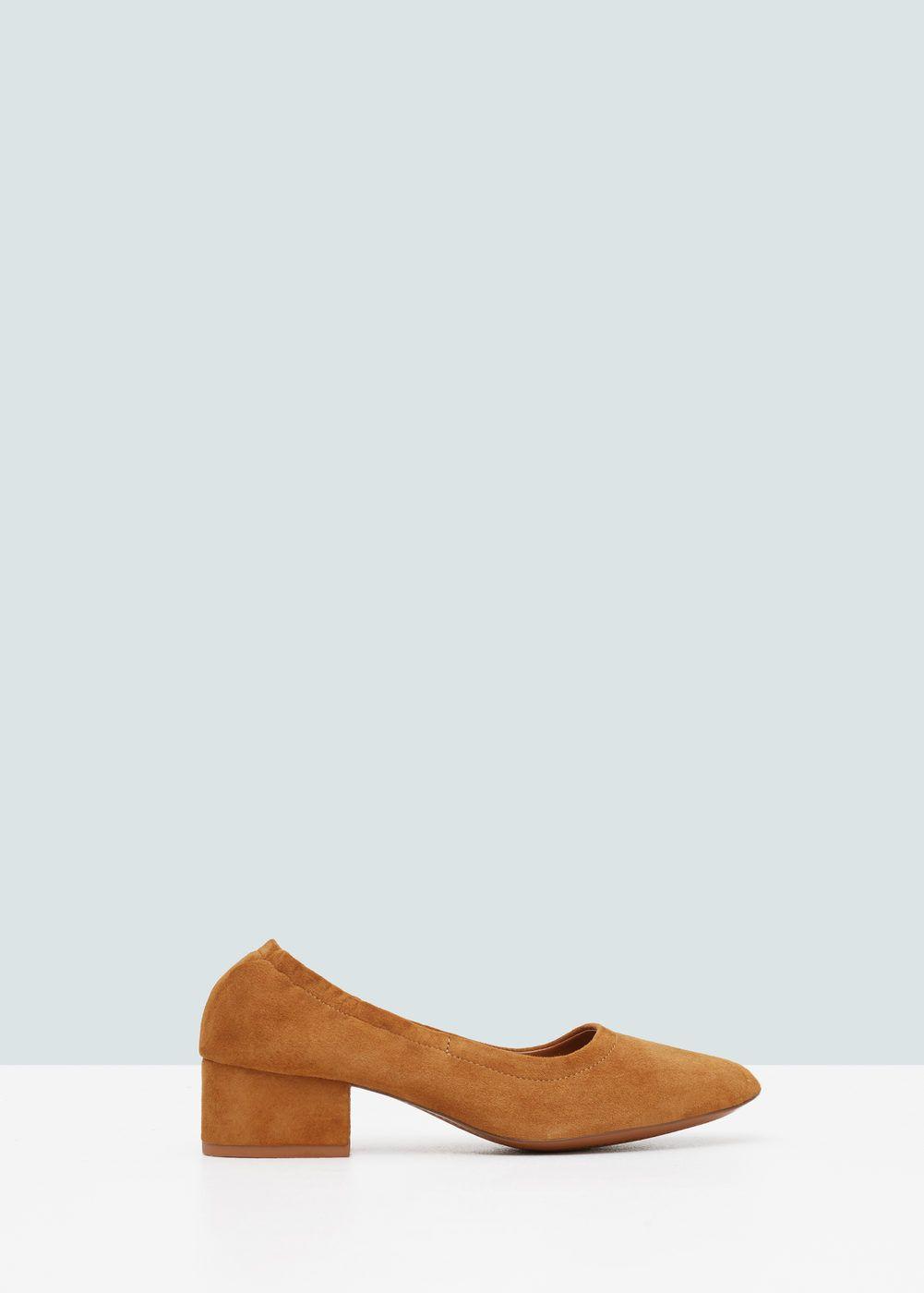 MANGO Heel suede shoes ClnIT