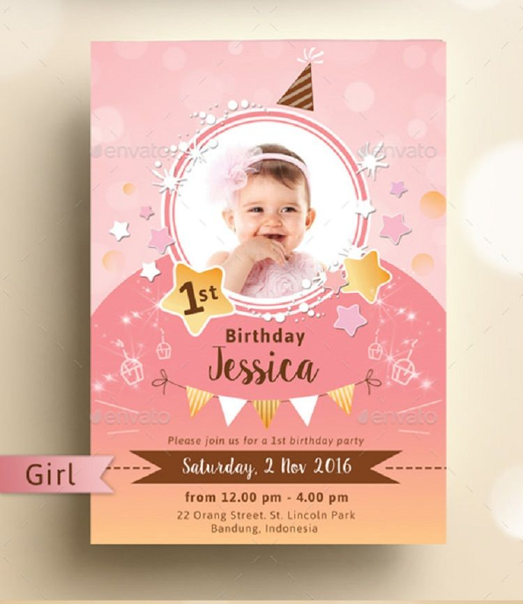 Party Invitation Template Psd Unicorn Invitations First Birthday