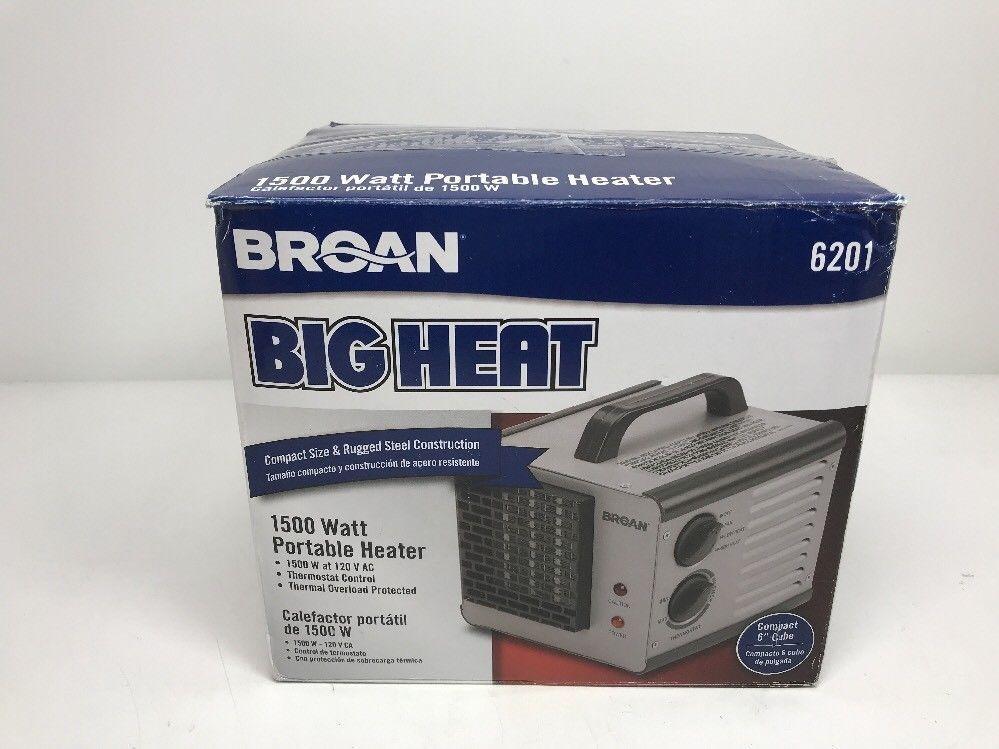 Broan Nutone 6201 Big Heat Heater Broan Broan Portable Heater Heater